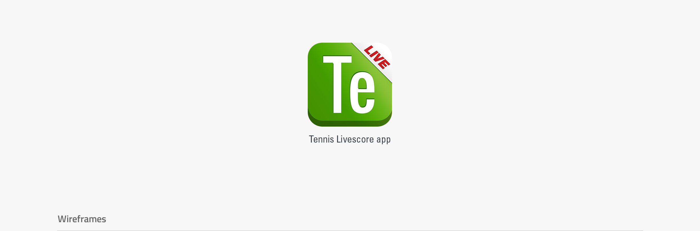 Tennis livescore - app icon