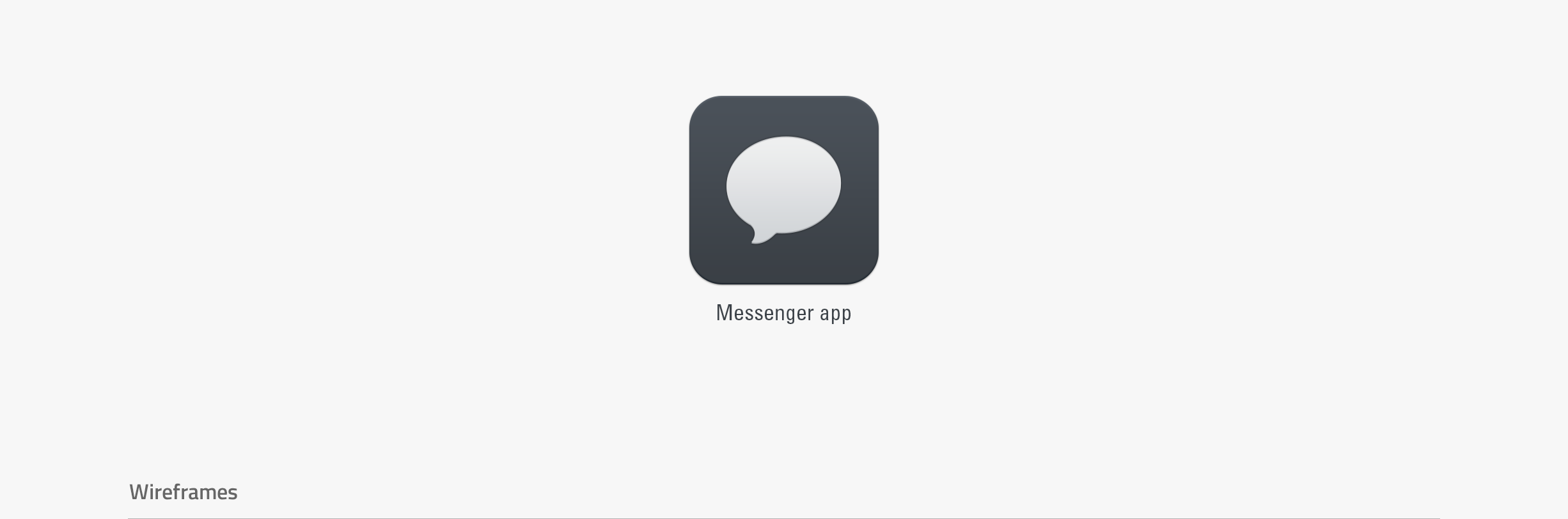 Messenger app - app icon