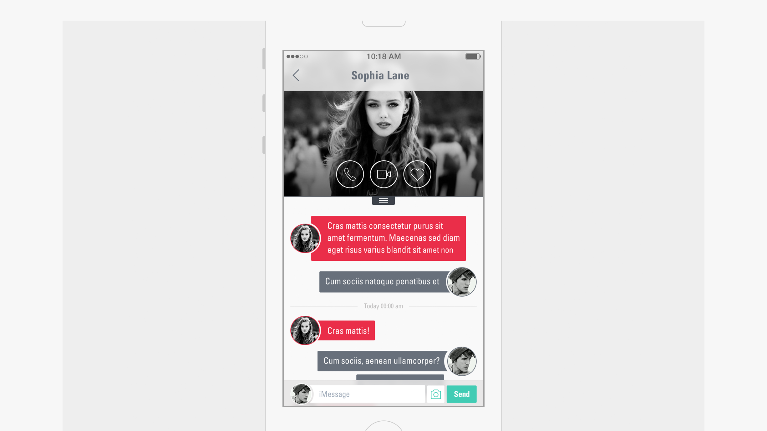 Messenger app - front chat screen