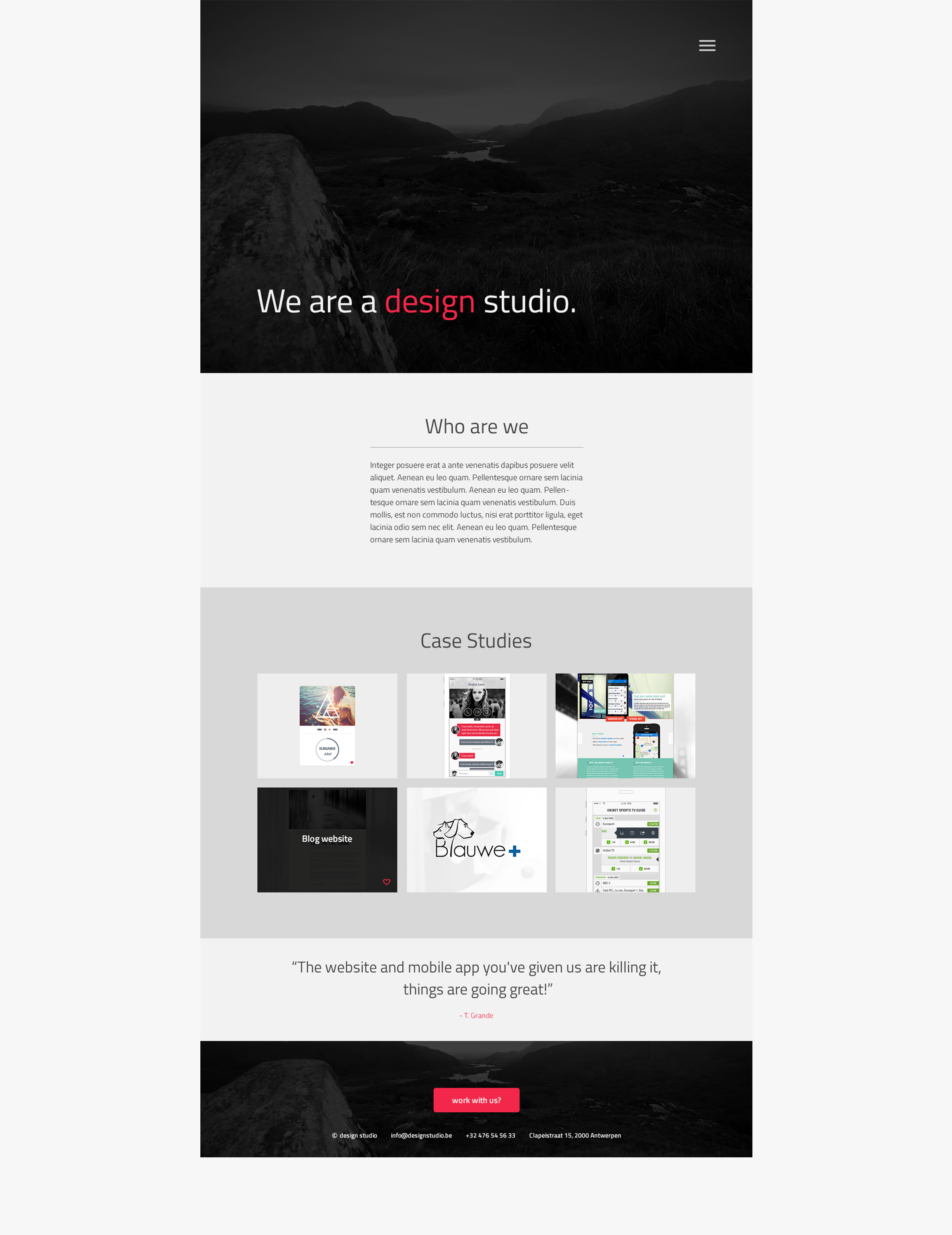 Website Design Studio - layout portfolio