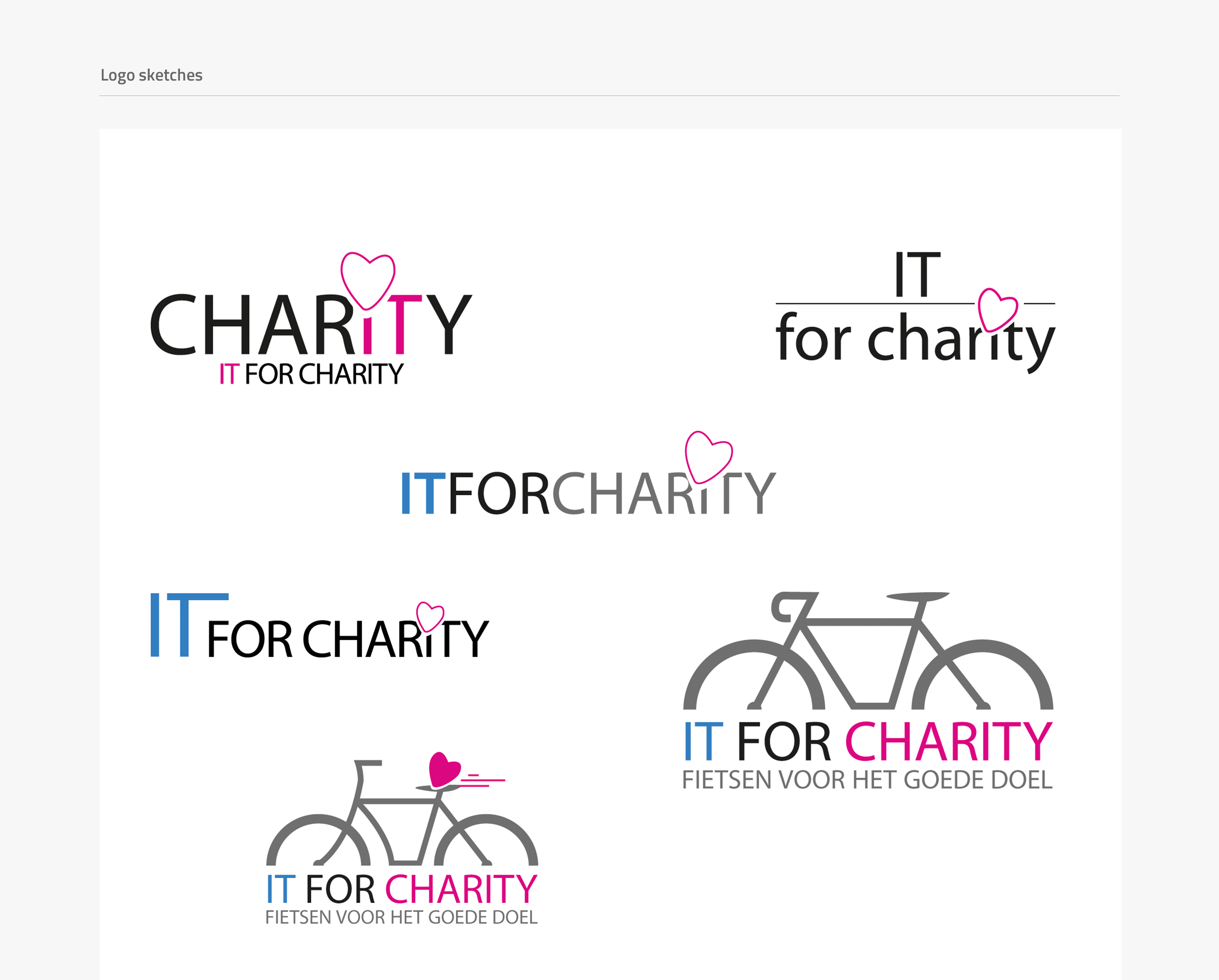 IT for Charity website - logo sketches